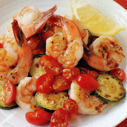 Shrimp with Zucchini and Tomatoes (4)