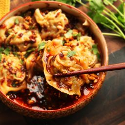Sichuan-Style Wontons in Hot and Sour Vinegar and Chili Oil Sauce (Suanla C