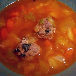Sicilian Meatball Soup