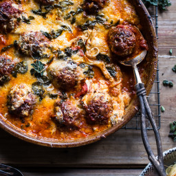 Simple Baked Italian Oregano Meatballs.