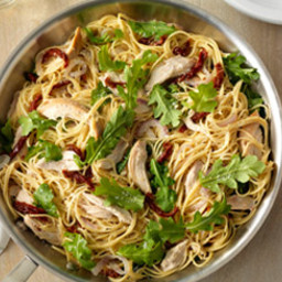 Simple One Pan Spaghetti with Rotisserie Chicken