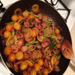 Simple Pasta, Veggies and Sausage