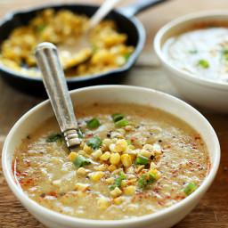Simple Summer Corn Soup