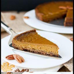 Simple Vegan Pumpkin Pie with Pecan Crust