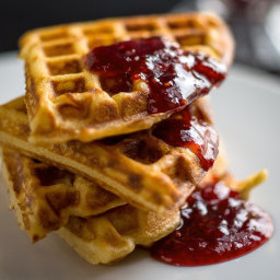 Simple Yeasted Waffles