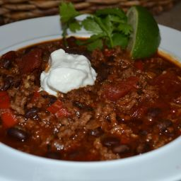 Sirloin & Black Bean Chili