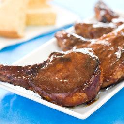 Skillet Barbecued Pork Chops
