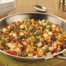 Skillet Corn and Potato Toss