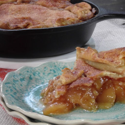 Skillet Apple Pie with Cinnamon Whipped Cream