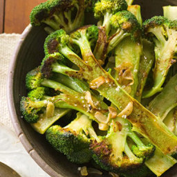 Skillet Browned Broccoli with Pan Toasted Garlic