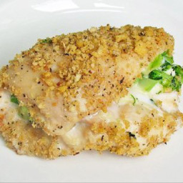 Skinny Broccoli and Cheese Stuffed Chicken