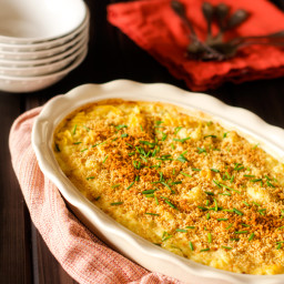 Skinny Cauliflower Mac n Cheese