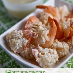 Skinny Coconut Shrimp {with Pina Colada Sauce!}