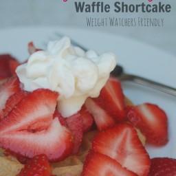 Skinny Strawberry Waffle Shortcake