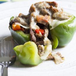 Skinny Cheesesteak Stuffed Peppers