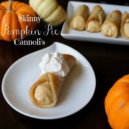 Skinny Pumpkin Pie Cannolis