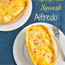 Skinny Spaghetti Squash Alfredo