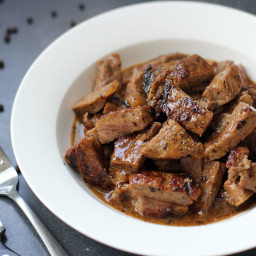 Sliced Tenderloin Steak in Butter Sauce