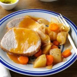 Slow-Cooked Pork Roast Dinner Recipe