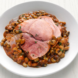 Slow-Cooker Barbecue Ham and Black-Eyed Peas