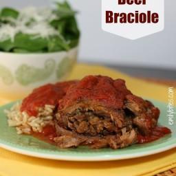 Slow Cooker Beef Braciole