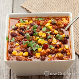 Slow Cooker Chili with Black Beans and Corn