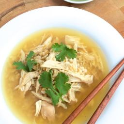 Slow Cooker Ginger Chicken and Rice Soup
