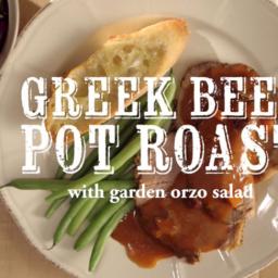 Slow Cooker Greek Beef Pot Roast