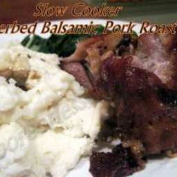 SLOW COOKER HERBED BALSAMIC PORK ROAST
