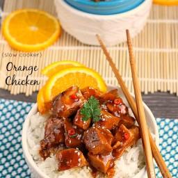 {Slow Cooker} Orange Chicken