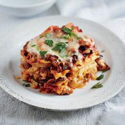 Slow Cooker Sausage and Squash Lasagna