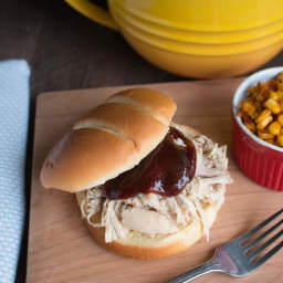 Slow Cooker Smoked Chicken Sandwiches and Barbecue Sweet Corn