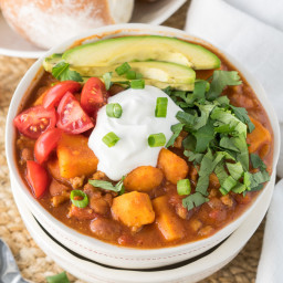 Slow Cooker Sweet Potato Turkey Chili