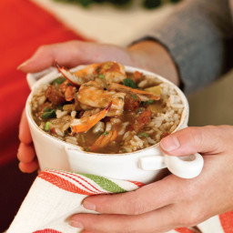 Slow-Cooker Sausage and Seafood Gumbo