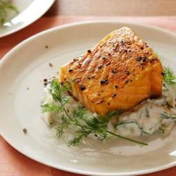 Slow-Roasted Salmon with Cucumber Dill Salad