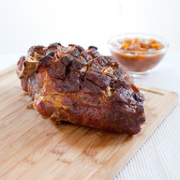 Slow-Roasted Pork Shoulder with Peach Sauce