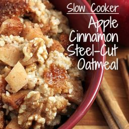 Slow Cooker, Apple Cinnamon Steel-Cut Oatmeal