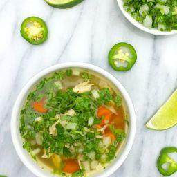 Slow Cooker Caldo de Pollo {Mexican Chicken Soup}