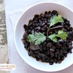 Slow Cooker Seasoned Black Beans No Soak