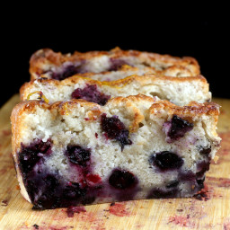 Smashed Blueberry Lemon Loaf Cake