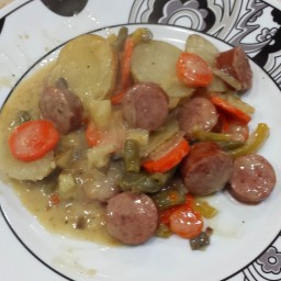 Smoked Sausage and Potato Bake (Mom)