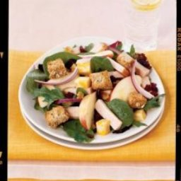 Smoked Turkey Salad with Apples and Croutons
