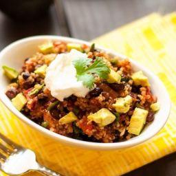 Smoky Black Bean, Poblano Pepper and Quinoa Salad