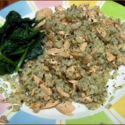 Smooth Salmon Risotto