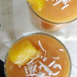 Smoothie de papaya, mango y coco