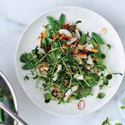 Snap Pea Salad with Coconut Gremolata