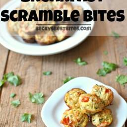 Sneaky Veggie Breakfast Scramble Bites