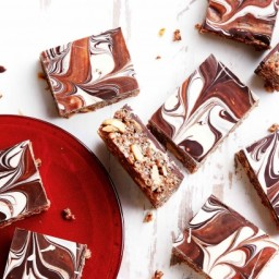 Snickers and salted peanut slice
