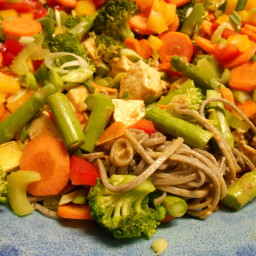 Soba Noodles and Veggies in Peanut Sauce
