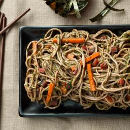 Soba Noodles with Swiss Chard–Miso Pesto